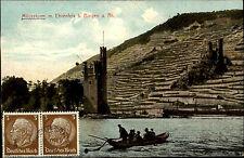 Bingen am Rhein 1941 alte Postkarte mit Turm Burg Ehrenfels und Mäuseturm