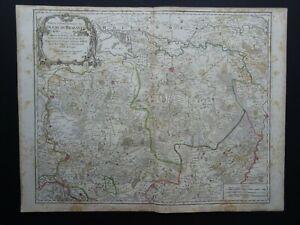 1790 Vaugondy Atlas Universel map  BRABANT - BELGIUM - Duche de Brabant