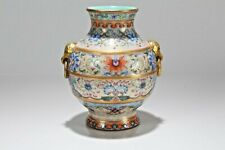 A Chinese Duo-handled Detailed Ancient-framing Porcelain Fortune Vase