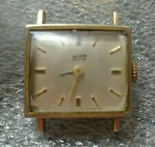 vintage women's Tissot wristwatch in yellow gold plated case running