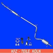 Skoda Fabia 1.2 Mittelschalldämpfe+Muffler+Exhaust Pipe + Set