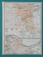 "1934 MAP 6 x 8"" (15 x 20 cm) - TANGIER City Plan Morocco Africa"