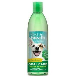 TropiClean Fresh Breath Dental Health Solution for Dogs 236ml Additive for Water