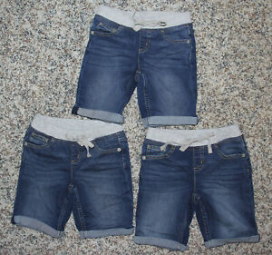 Details about  /Justice Girls Denim /& Mesh Shorts Sz 8 /& 10