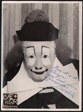 Clown. Alphonse Boulicot. Photographie Star Press. Dédicacée vers 1935. Cirque