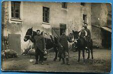 CPA Photo: Soldats du 4° Régiment d'Infanterie Territoriale avec leurs mulets