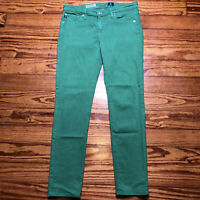 AG Adriano Goldschmied Womens Size 28 Green The Stevie Ankle Slim Straight Jeans