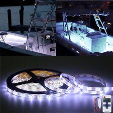 White LED Boat Light Deck Waterproof 12v Bow Trailer Pontoon Lights Kit Marine