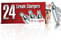24 pure Whip Cream Chargers 8g Whipped N    1 x 24 QUICK       QW24