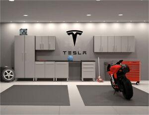 Tesla Wall Decals Garage Wall Art Large Sizes