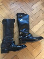 Vintage  Aviakit Lewis Leathers Motorcycle Boots - Size 7 Ace Cafe Racer