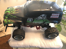 Vintage Tamiya Ford 150 Blackfoot RC Truck with Grave Digger Body