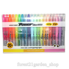 JAVA Highlighter Pen Power Line 2500 Original, Mild Colors - 20 Colors - 1 Set
