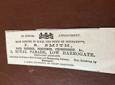 m7-4 ephemra 1885 advert j s smith hair dresser harrogate