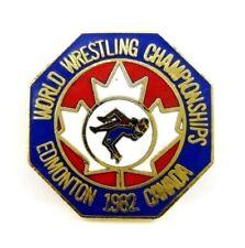 1982 World Wrestling Championships in Edmonton, Canada Great Sport Pin Badge