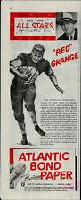 1952 Atlantic Bond Paper Red Grange Football Star Vintage Print Ad 1815