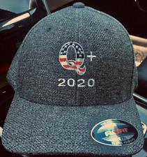 QFlagHats.com : QAnon Q+2020 USA Custom Embroidered FlexFit Hat Men's Unisex