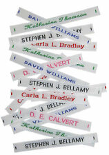 144 Woven Name Tapes/Labels for School Uniform plus 12 Printed Iron-on Tags