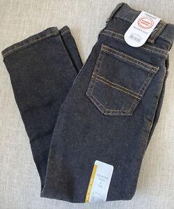 Boys Wonder Nation  Relaxed Fit Adjustable Waist Black Jeans. Size 6 Slim