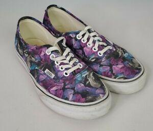 Vans Floral Black Unisex Low Lace Up Skate Shoes Size US Mens 6.5 Womens 8 T375