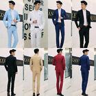 Men's Coat + Trouser Formal Suit One Button Slim Fit Blazer Jacket Pants M-3XL
