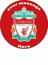 LIVERPOOL PERSONALISED EDIBLE ROUND CAKE TOPPER
