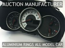 Toyota GT86 12-16 Chrome Cluster gauge Dashboard rings speedo Trim instrument x3