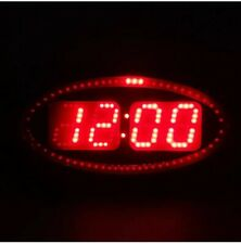 Digital LED Wall Clock - Second Marker Circles Around Time RED NEW BRG Precision