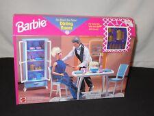 Barbie Doll DINING ROOM Furniture Set NIB Dollhouse 67551-94 NEW 1998 Ken (m658