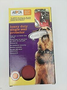 ASPCA Collection - Universal Heavy Duty Single Car Seat Protector Color Cherry