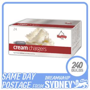 EZYWHIP PRO WHIPPED CREAM CHARGERS 24 PACK X 10 (240 BULBS) N2O NITROUS OXIDE