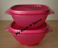 Tupperware Classic Servalier Salad  Bowl Container 4 Cup Translucent Pink New
