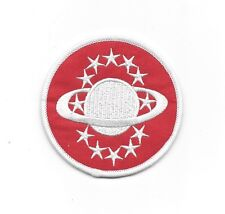 """Galaxy Quest Communications Uniform Red Logo Embroidered Patch 3"""""""