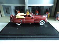Oxford  1941   Lincoln  Continental  Convertible   Maroon    1/87  HO car