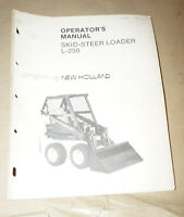 Sperry New Holland Skid-Steer Loader L-250 Operator's Manual P/N 42025010