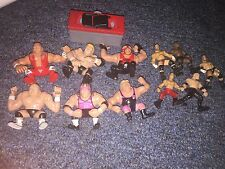WWE Jakks Playmates Grudge Matches Bret Owen Hart Mini Lot 10 Wrestling figures
