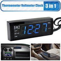 3in1 Auto Digital LED Uhr Clock Temperatur Anzeige Thermometer Voltmeter DC12V