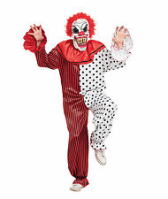 Horror Clown Includes Mask Halloween Fancy Dress Outfit Costume Size M-L