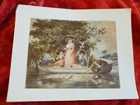 A Party Angling - Vintage Book Print