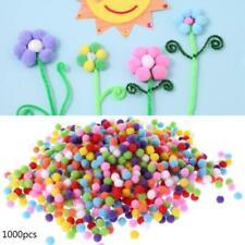 1000Pcs Soft Round Fluffy Craft PomPoms Ball Mixed Color Pom Poms 10mm DIY Craft