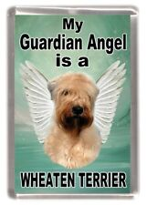 "Soft Coated Terrier Dog Fridge Magnet ""My Guardian Angel is a.... "" by Starprint"