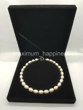 WHITE FRESHWATER 14-15MM BAROQUE PEARL NECKLACE / CHOKER - AUTHENTIC