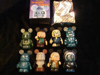 "Haunted Mansion Set of 8 Vinylmations 3"" Series 2 Disney w/Chaser & Boxes NEW"