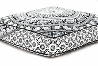 "35"" Large Mandala Square Floor Meditation Pillow Cover Pouf Cushion Hippie Boho"