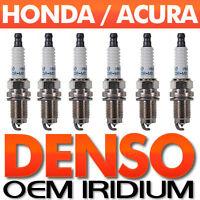 6-PC Acura/Honda SPARK PLUG SET > Genuine DENSO Iridium Long-Life OEM SPECS 3.5L