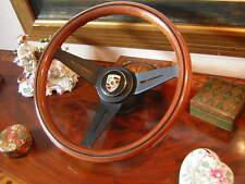 Porsche 911 74 - 89 deep dish Wood Steering Wheel Nardi NEW Orig. REU Emblem