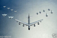US Air Force B-52 Stratofortress Leads Formation -Polish-German-Swedish Aircraft