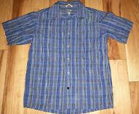 Mens Mountain Hardwear Short Sleeve Plaid Button Up Shirt Size Medium M