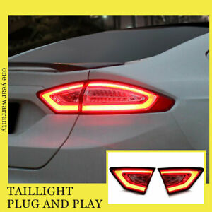 For Ford fusion LED Taillights Assembly 2013-2016 Dark/Red LED Rear Lamps