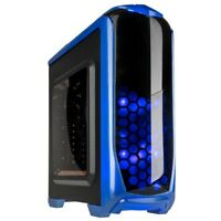 Kolink Aviator ATX Midi Tower Blue LED USB 3.0 Desktop PC Gaming Case Blue